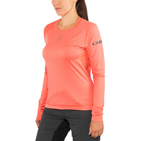 Cube AM Round Neck Jersey longsleeve Dame coral